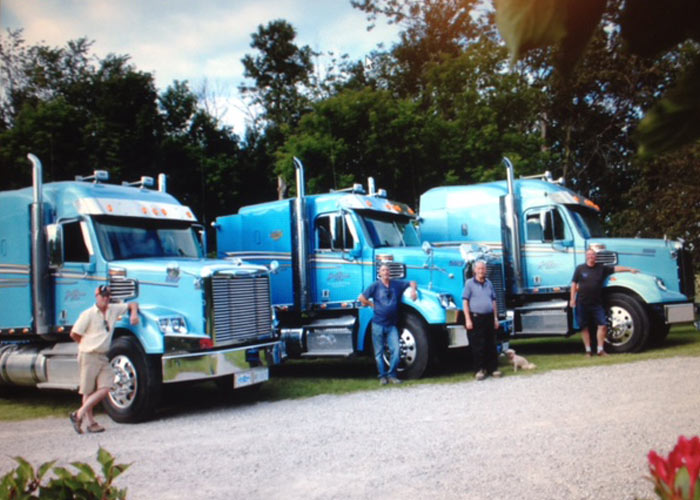 Jim Brown & Sons Trucking fleet in the early years